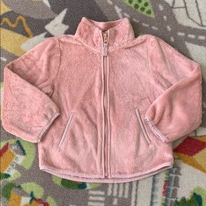 Children's Place Pink Sherpa Zip Up Jacket 3T